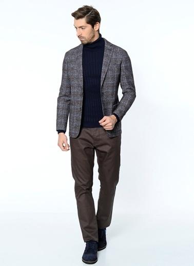 Daffari Slim Fit Yün Blazer Ceket Lacivert